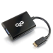 C2G 80504 adaptador de cable de vídeo 0,2 m Mini-HDMI VGA (D-Sub) Negro