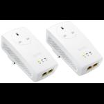 Zyxel PLA5256 - Starter Kit - bridge - GigE, HomePlug AV (HPAV), HomePlug AV (HPAV) 2.0, IEEE 1901 - wall-