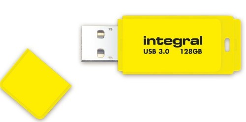 Integral NEON 3.0 USB flash drive 128 GB USB Type-A 3.2 Gen 1 (3.1 Gen 1) Yellow