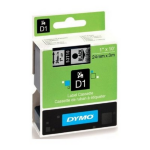 DYMO D1 Label Cassette, 24mm x 7m - Black on Clear
