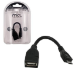 MCL 12cm USB A/Micro USB cable USB 0,12 m Micro-USB B Negro