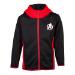 Marvel Avengers Logo Teq Full Length Zipper Hoodie, Kid's Unisex, 146/152, Black/Red (HD742414AVG-146/152)