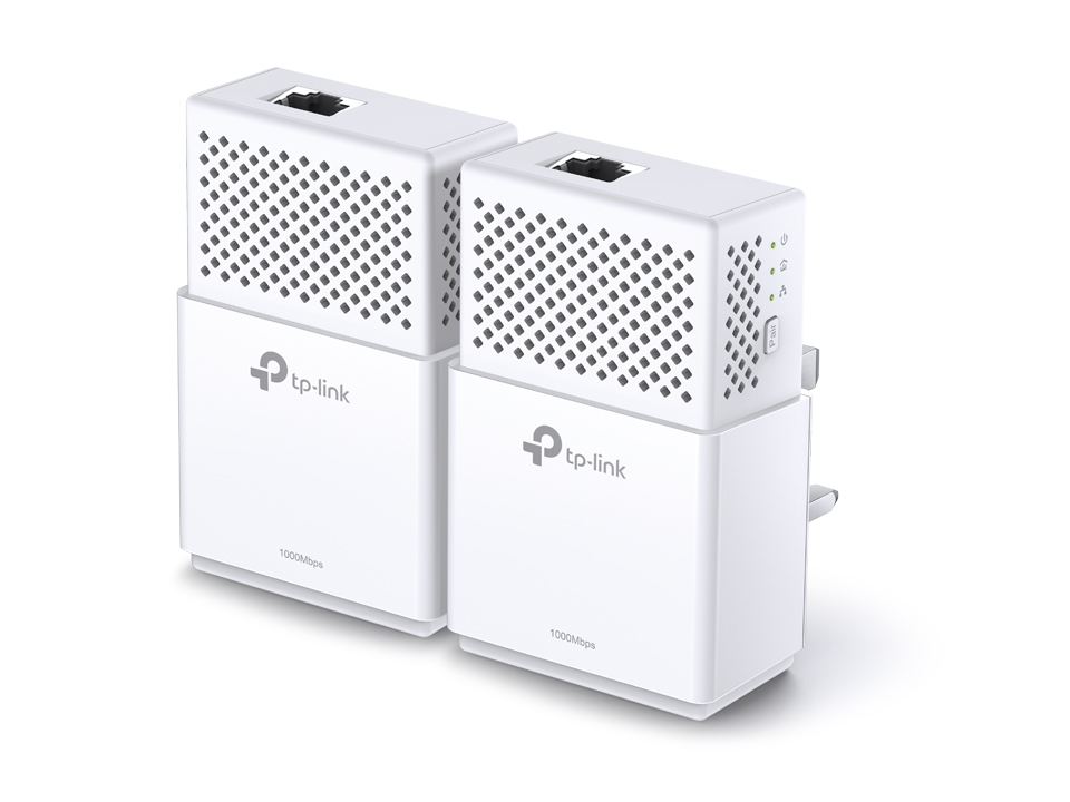 TP-LINK AV1000 1000Mbit/s Ethernet LAN White 2pc(s) PowerLine network adapter