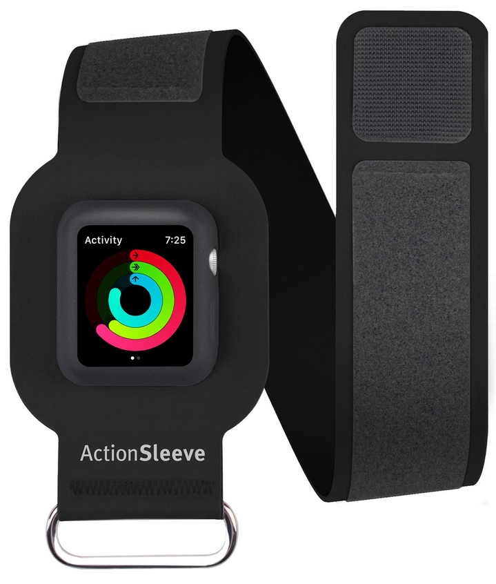 "TwelveSouth ActionSleeve Band For Apple Watch , 40 x 428 mm, Fits arms 22.86 cm (9"") to 33.02 cm (13"") (32cm) Black"