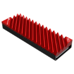Jonsbo M.2-3 RED computer cooling component Solid-state drive Heatsink 1 pc(s) Black, Red