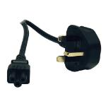 Tripp Lite Standard UK Computer Power Cord (C5 to BS-1363 UK Plug), 6-ft.