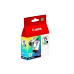 Canon 8191A002 (BCI-15 C) Ink cartridge color, 100 pages, 8ml, Pack qty 2