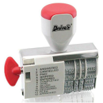 DESKMATE RUBBER STAMP DIAL-A-PHRASE DATER