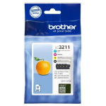 Brother LC-3211VAL Ink cartridge multi pack, 200 pages, Pack qty 4