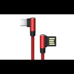 Akasa AK-CBUB40-10RD USB cable 1 m USB A USB C Black,Red