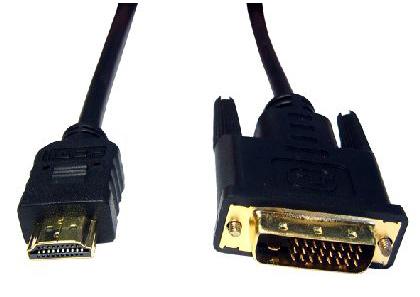 Cables Direct 1m HDMI-DVI-D Black