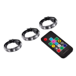 DeepCool RGB 380 Magnetic LED Light Strips (3x40cm), Remote, Multi-colour Flashing, RGB Sync Compatible