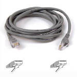 Belkin RJ45 CAT-5e Fastcat Snagless UTP Patch Cable 1m grey 1m Grey networking cable