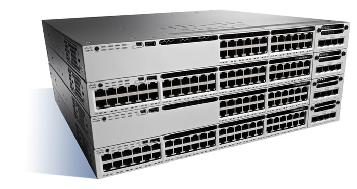 Cisco Catalyst WS-C3850-48T-E Managed Black, Grey network switch