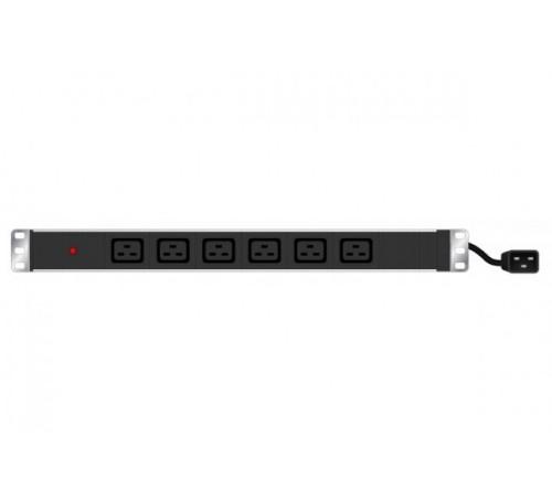 Hypertec 808904-HY power distribution unit (PDU) 1U Black 6 AC outlet(s)