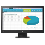 "HP ProDisplay P203 50.8 cm (20"") 1600 x 900 pixels HD+ LED Flat Black"