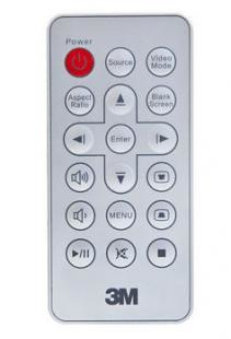 3M RC410 IR Wireless press buttons Silver remote control