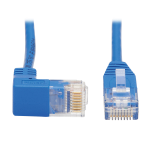 Tripp Lite Down-Angle Cat6 Gigabit Molded Slim UTP Ethernet Patch Cable (RJ45 Right-Angle Down M to RJ45 M), Blue, 0.31 m