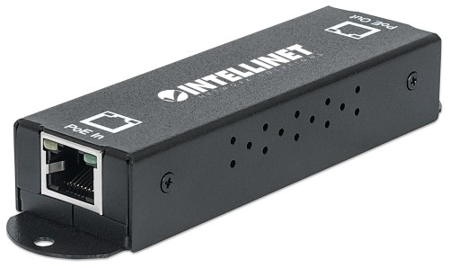 Intellinet Gigabit High-Power PoE+ Extender Repeater, IEEE 802.3at/af Power over Ethernet (PoE+/PoE), metal