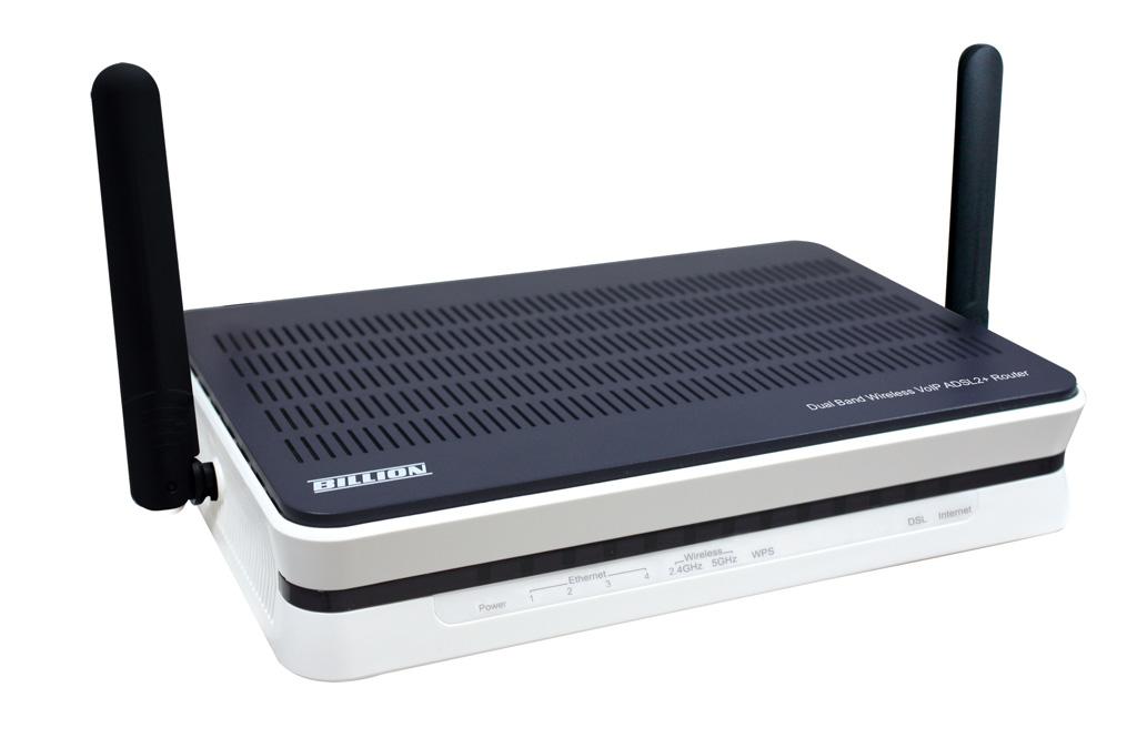 Billion 7800DXL Dual-band (2.4 GHz / 5 GHz) Gigabit Ethernet Black,Silver wireless router