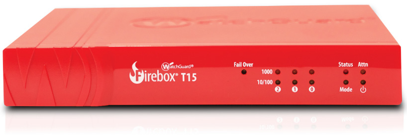 WatchGuard Firebox T15 + 1Y Total Security Suite (WW) 400Mbit/s hardware firewall