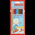 STABILO Aquacolor colour pencil Multicolour 12 pc(s)