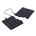 R-Go Tools R-Go Split Break Ergonomic Keyboard, QWERTY (UK), black, wired