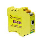 Brainboxes Ethernet to Digital electrical relay Yellow