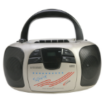 Ergoguys Califone 1776 Portable CD player Black,Silver