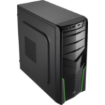 Aerocool V2X Black,Green computer case