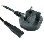 Cables Direct RB-298W 2m BS 1363 C7 coupler Black power cable