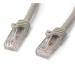 StarTech.com 25 ft Gray Gigabit Snagless RJ45 UTP Cat6 Patch Cable - 25ft Patch Cord