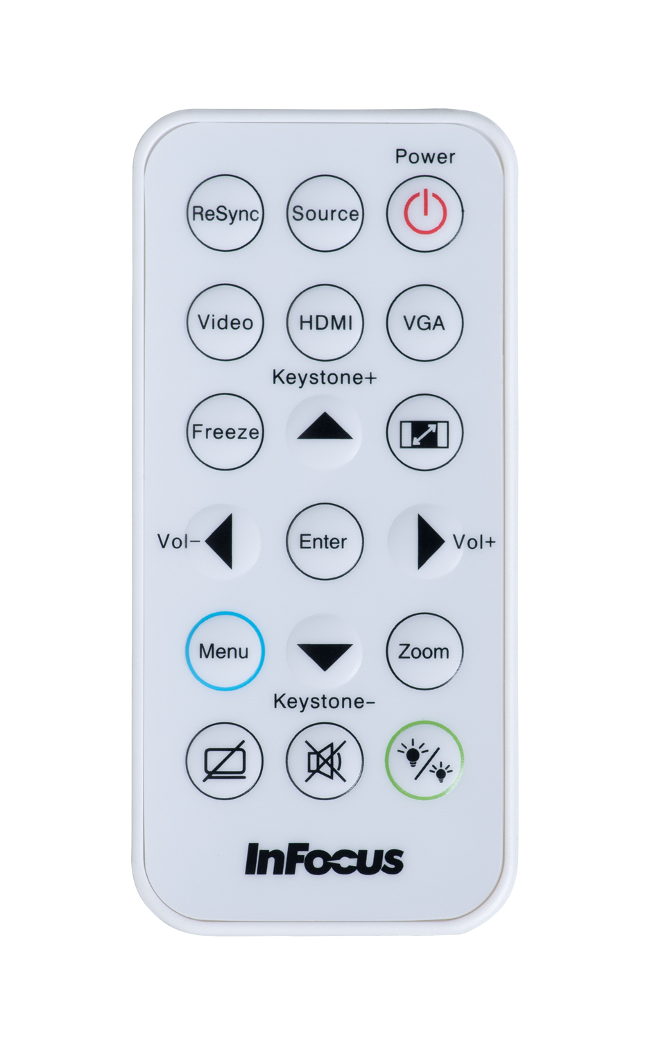 Infocus INA-REMPJ001A remote control White Press buttons