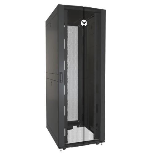 Vertiv VR3157 rack cabinet 48U Freestanding rack Black, Transparent