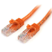 StarTech.com Cable de 1m Naranja de Red Fast Ethernet Cat5e RJ45 sin Enganche - Cable Patch Snagless