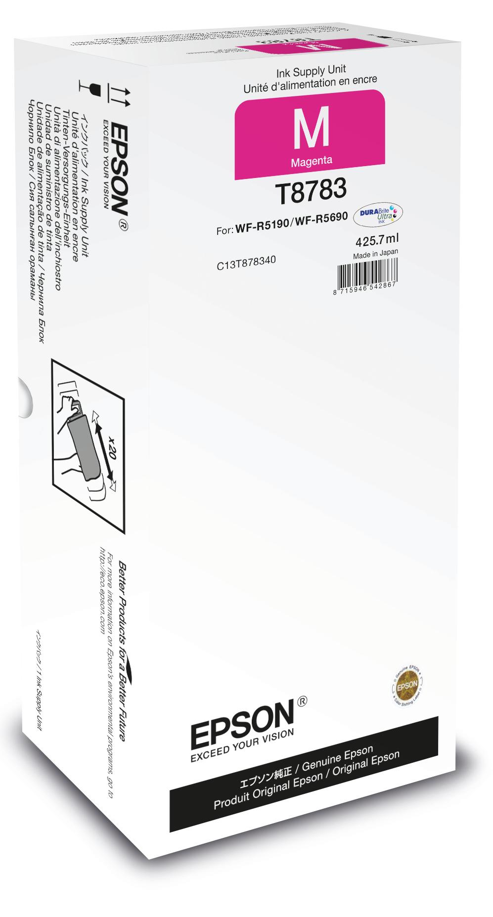 Epson Unidad de suministro de tinta T8783 magenta XXL