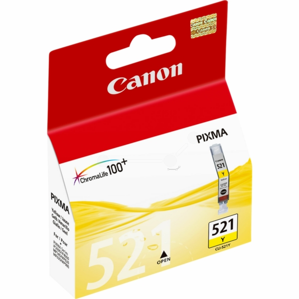 Canon 2936B001 (521 Y) Ink cartridge yellow, 477 pages, 9ml