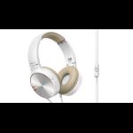 Pioneer SE-MJ722T-T Head-band Binaural Wired Brown,White mobile headset