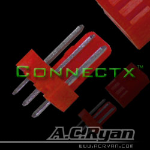 AC Ryan Connectx 3pin fan connector Male - UVRed 100x wire connector 3pin Fan Male Red