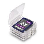 Integral INSDQUADBOX memory card case 4 cards Transparent