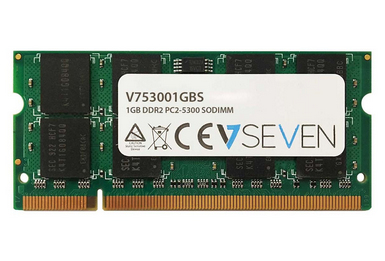 V7 1GB DDR2 PC2-5300 667Mhz SO DIMM Notebook Memory Module - V753001GBS