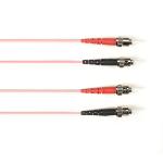 """Black Box FOLZH62-005M-STST-PK fiber optic cable 196.9"""" (5 m) ST LSZH OM1 Pink"""