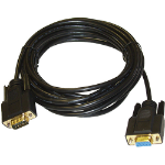 Cablenet V2-D9MF serial cable Black 2 m DB9