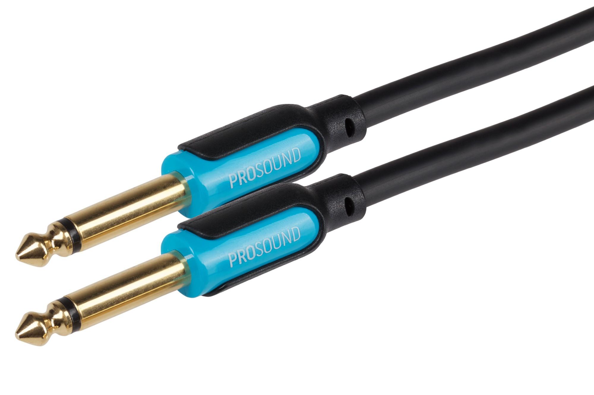 ProSound 0.25 Inch Mono 2 Pole Jack to 0.25 Inch Mono 2 Pole Jack Cable (5m)