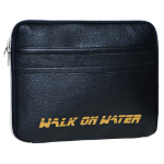 "Walk on Water Boarding Sleeve, 13 13"" Notebook sleeve Black,Gold"
