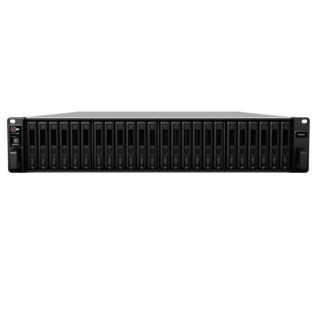 Synology FlashStation FS3400 data-opslag-server Ethernet LAN Rack (2U) Zwart, Grijs NAS