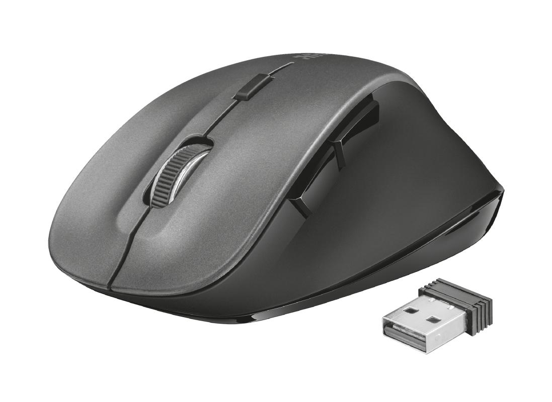 Trust Ravan ratón RF inalámbrico Óptico 1600 DPI mano derecha