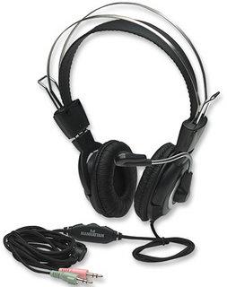 Manhattan 175555 headset Binaural Head-band Black