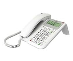British Telecom Decor 2200 Analog telephone Caller ID White