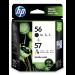 HP 56/57 Original Negro, Cian, Magenta, Amarillo Multipack 2 pieza(s)